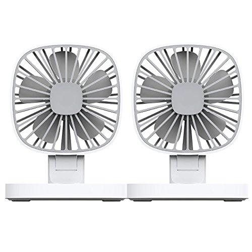 Fansport Elektroauto Fan USB wiederaufladbarer Ventilator Doppelköpfe Auto Lüfter Auto Luft Fan Lüfter Motor Single
