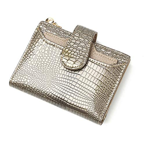 AIFBB Cartera cuero mujer - Crocodile Leather Pattern