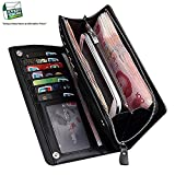 Everything Imported Pu-Leather Long Zipper Wallet For Men And Women