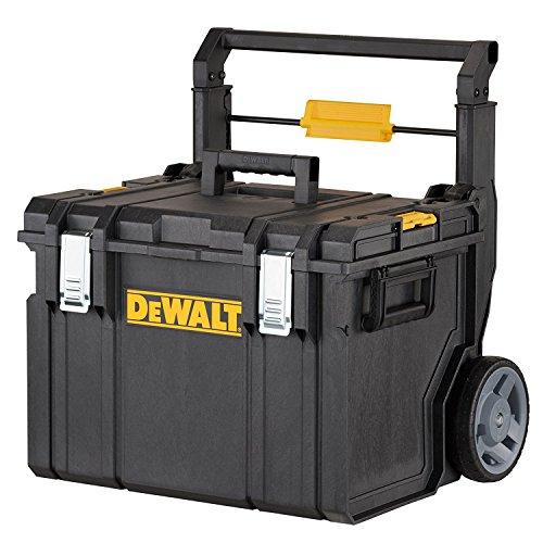 Dewalt Tough-Box (mobile Werkzeugbox mit leichtgängigen Rädern, zur Aufbewahrung von Elektrowerkzeug, Handwerkzeug und Zubehör, Abmessung 595 x 470 x 620 mm) DWST1-75668