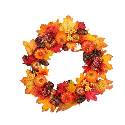 gaeruite Weihnachten Künstliche Herbst Kürbis Kranz für Dekoration Halloween Weihnachtsbaum Hängen Dekor, Nicht Licht