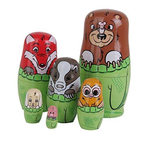 Wildlead Neue Baby-Spielzeug aus Holz Matryoshka Nesting Dolls Set Russische Puppen Handgemalte Home Decoration Geburtstags-Geschenke