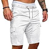 Dihope Shorts de Sport pour Hommes Pantalon Court Respirant Séchage Rapide Panta Court Casual Lâche Bermuda de Plage Cargo De