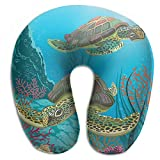 Voxpkrs Sea Turtles And Algae Neck Head Support Travel Rest U Shaped Pillow 9