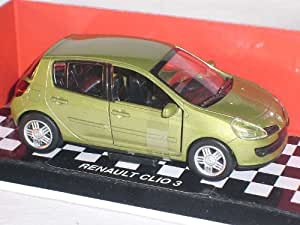 Renault Clio 3. Generation Gelb Grün 5 Türer 1/32 New Ray Modellauto Modell Auto