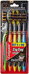 Colgate ZigZag Soft Black Tooth Brush (Pack of 5)