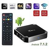 X96mini Android 7.1.2 TV Box (Amlogic Quad Core Arm Cortex A, 1GB RAM 8GB ROM, 4K HDMI, WiFi, HD 2.0) Smart TV Box