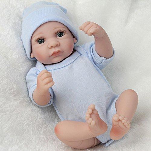 LnLyin Blaue Augen öffnen Kunst Puppen Realistische Lebensechte Neugeborene Silikon Vinyl Reborn Geschenk Babypuppen Handgemachte Ganzkörper