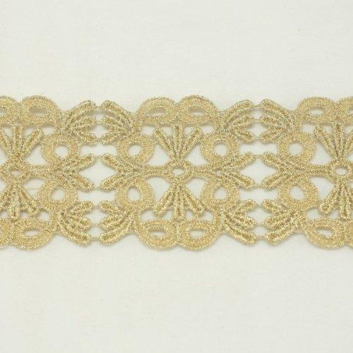 Colore: Oro con bordo in pizzo metallico