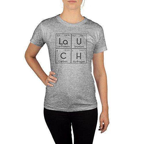 Frauen T-Shirt mit Aufdruck in Grau Gr. S Lauch Chemie Gang Design Girl Top Mädchen Shirt Damen Basic 100% Baumwolle Kurzarm