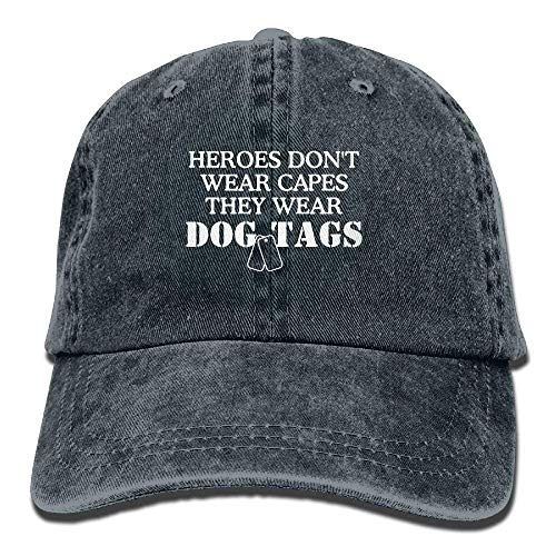 But why miss Real Heroes Don't Wear Capes They Wear Dog Tags Unisex Adult Adjustable Baseball Dad Cap