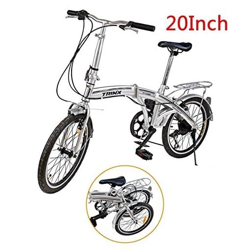 Ridgeyard Bicicletta Pieghevole 20 Pollici A 6 Marce Bici Pieghevole