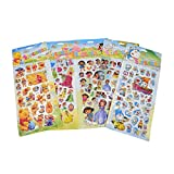 #4: Asianhobbycrafts 3-D Holographic Stickers For Scrapbooking Hobby Crafts ,41 X 17 Cm 5 Per Pack