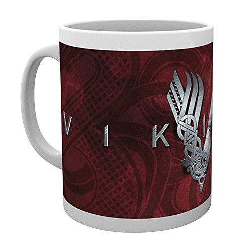 Empire Merchandising 688019 Vikings Logo vichinghi Serie TV tazza in ceramica, diametro 8,5 cm, altezza 9,5 cm