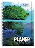Häfft PLANER Premium A5 2018/2019 [Insel] Spiralbindung mit Schutzdeckblättern, Hausaufgabenheft/Schülerkalender/Schüler-Tagebuch/Schülerplaner