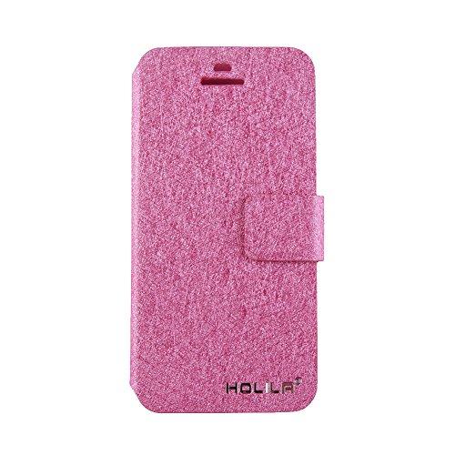 Eleoption® - Custodia in pelle per smartphone, con funzione di supporto e porta tessere, Champagner-Rosa, iPhone 6/6S Rosa pink