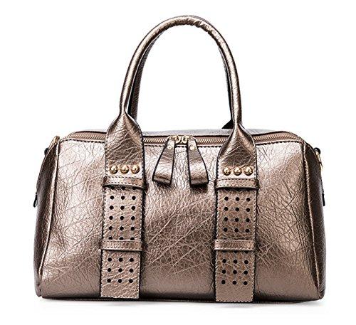 Keshi Pu Cool Damen Handtaschen, Hobo-Bags, Schultertaschen, Beutel, Beuteltaschen, Trend-Bags, Velours, Veloursleder, Wildleder, Tasche Golden