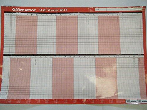 office-depot-a1-montata-2017-staff-planner-da-parete-con-adesivo-e-penna