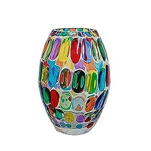 Bubble 200 Handbemalte Glasvase im Murano-Stil in Venedig