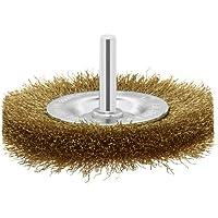 Bosch 2 609 256 519 - Cepillos de disco para taladradoras, alambre ondulado, latonado, 75 mm