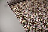 Stoff / Meterware / ab 25cm / Beschichtete Baumwolle (Tante Ema) Kreise rot, rosa, grün