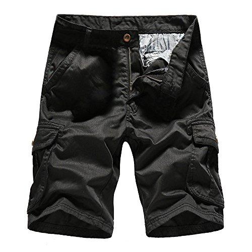 Aiserkly Herren Cargo Shorts Hose Arbeitshose Kurze Hosen Sommer Freizeithose mit Taschen Outdoorhose Western Jeans-hose