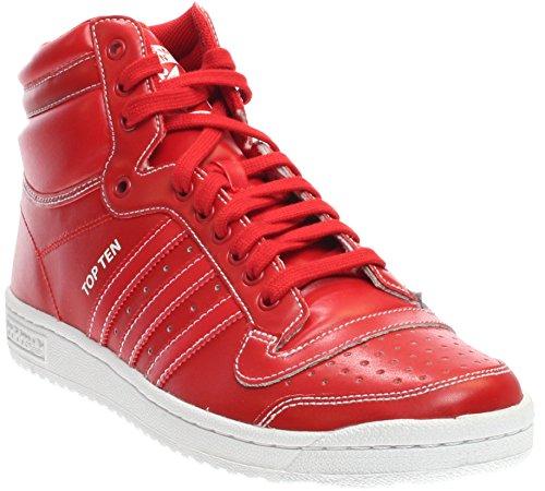 Adidas Mens Top Ten Hi Scarlet Scarlet