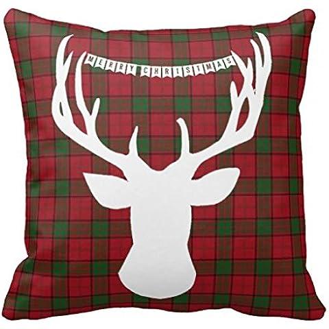 Merry Christmas Deer Hunter-Copriletto-Copridivano decorativo, cuscini, cuscini-Fodera