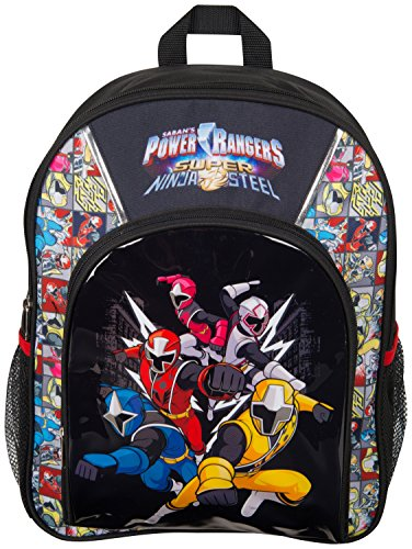 Power Rangers Ninja Steel Kleine Rucksäck für Kinder Kindergartenrucksack Lässig Kinderrucksack