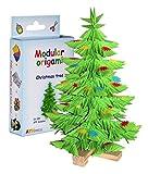 Origami modulari - Set carta 875 pezzi albero di Natale piccolo, multicolore
