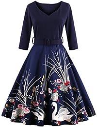 Dissa M1338 DamenRockabilly 50er Vintage Retro Kleid Partykleider Cocktailkleider