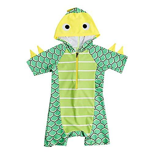 EULLA Kinder Baby Jungen Einteiler Schwimmbekleidung Dinosaurier Kurzarm Bademode Badehose UV-Schutz S - Schutz-kleidungsstück