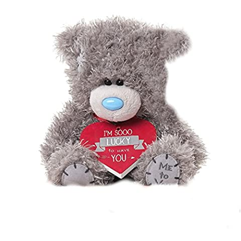 Soft Grey Me To You Small Plush Tatty Teddy Bear Im So Lucky To Have You HEart Cushion