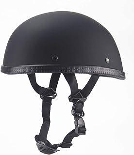YXNB/® Halbschale Jethelm Helm Schwarz Motorradhelm mit Brille DOT-Zertifiziert Vintage Jet Harley Helm Jahreszeiten Unisex Mattschwarz DOT-zertifiziertes,S55~56cm