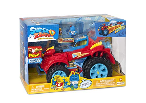 Superzings -  Monster Roller Hero con 2 exclusivas figuras SuperZings Heroe