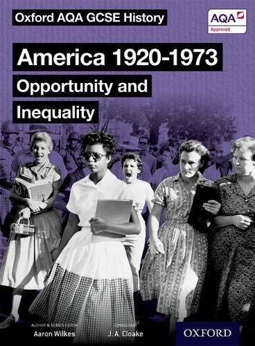 Oxford AQA GCSE History: America 1920-1973: Opportunity and Inequality Student Book Test