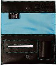 Pellein - Portatabacco in vera pelle Blu Hero - Astuccio porta tabacco, porta filtri, porta cartine e porta ac