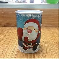 Preisvergleich für Heylookhere Sparschwein-Bank Weihnachtsgeld Bank Zylindrische Weißblech Kann Piggy Bank (Blue Santa Claus)