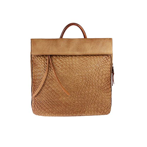 OBC Only-Beautiful-Couture, Borsa a zainetto donna marrone Braun V1 ca.: 36x34x10 cm (BxHxT) Cognac V1
