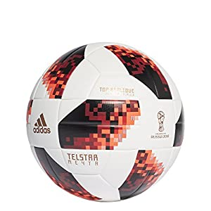 adidas Herren World Cup Knock Out Fußball, White/Solar Red/Black, 5