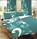 Gaveno Cavalia Bettwäsche-Set mit Kissenbezug, Bettbezug AE04 Grandeur Blaugrün Doppelbett