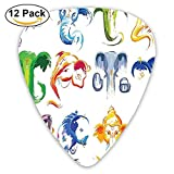 Indian Goddess Deity Elephant Icon Display In Ethnic Spiritual Artwork Guitar Picks 12/Pack