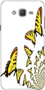 Snoogg Kaleidoscopic Butterflies Designer Protective Back Case Cover For Sams...