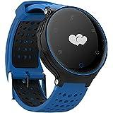 Microwear X2 Smartwatch Bluetooth 4.0 IP68 Sedentario a Prueba de Agua Sueño / Monitor de Ritmo Cardíaco Podómetro (azul)