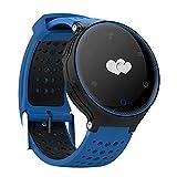 X2 Smartwatch Activity Tracker , Braccialetto Fitness Impermeabile IP68/ 480mah /Orologi Cardiofrequenzimetro/pedometro/misura della pressione sanguigna/Tracker Sonno/ Telecomando Acquisizione (Blu)