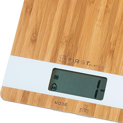 Digitale Küchenwaage aus Bambus - 3