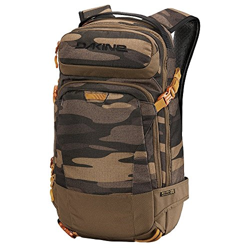 "DAKINE Heli Pro 20L Polyester Black,Bordeaux backpack - backpacks (Polyester, Black, Bordeaux, Monotone, 600 D, Unisex, 38.1 cm (15"")) field camo"