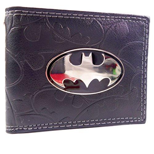 Cartera de DC Comics Batman Badge & Bat Símbolos Negro