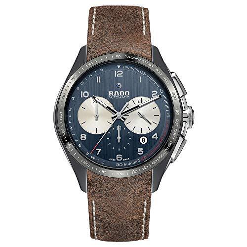 Rado HyperChrome Herren-Armbanduhr 45mm Armband Leder Automatik R32022105