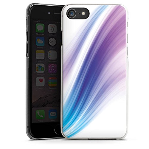 Apple iPhone X Silikon Hülle Case Schutzhülle Pastell Nebel Streifen Hard Case transparent
